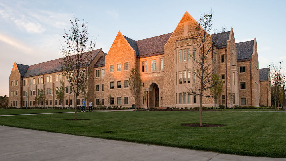 The recently built McCourtney Hall is LEED certified.
