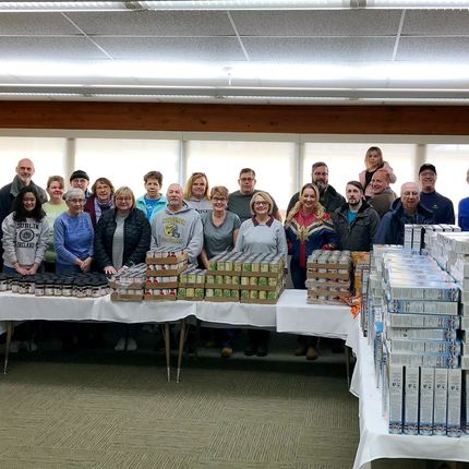 Volunteers from Fighting Irish Fighting Hunger, as well as OIT, distributed food to dozens of clients.