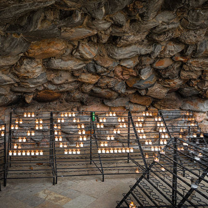 Grotto candles form the number