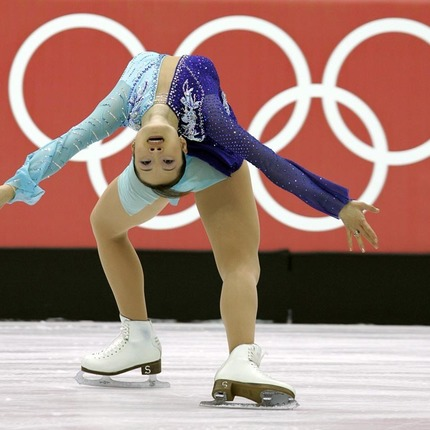 Gold medalist Shizuka Arakawa, of Japan, during her routine in Ladies' Free Skating program at the 2006 Winter Olympics in Turin, Italy.