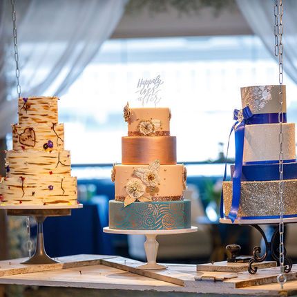 Wedding cakes are among the specialties created by Vespie's team.