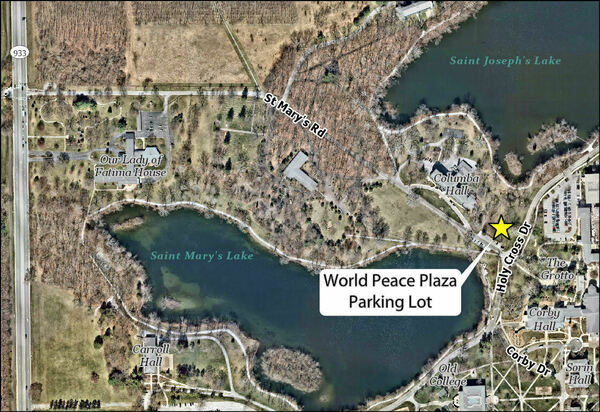 Lake And Parking Map