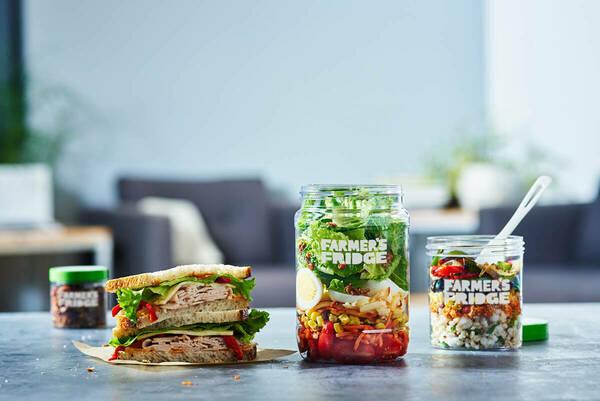 Farmers Fridge Trio Salad Bowl Sandwich